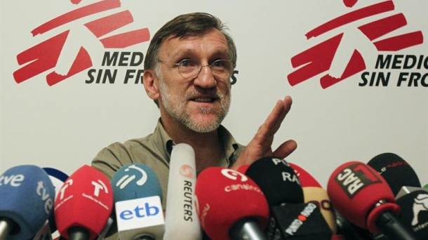 Juan Antonio Bastos, head of the Spanish office of Doctors Without Borders. Photo: EFE