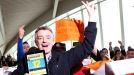 Ryanair boss clashes with protesters from sacked rival airline staff