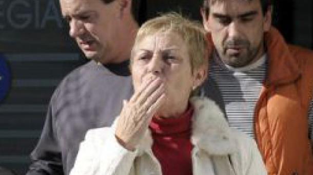 Maria Pilar Marcos, epaitegitik ateratzen, 2010ean aske utzi ostean. Efe.