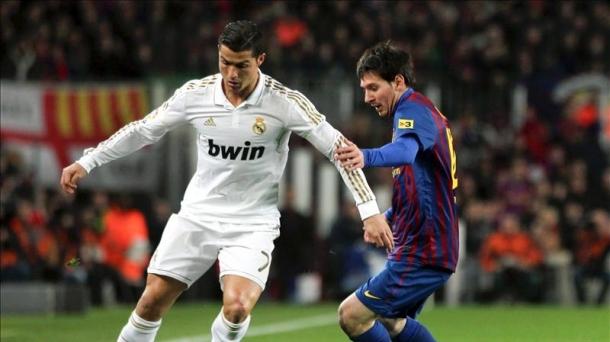 Messi y Cristiano Ronaldo durante un Barcelona-Real Madrid. Foto: EFE