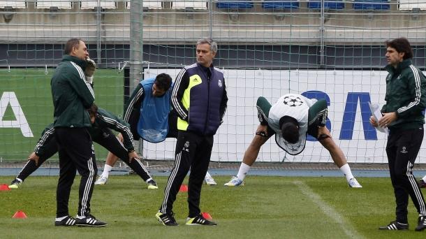 Entrenamiento del Real Madrid. EFE