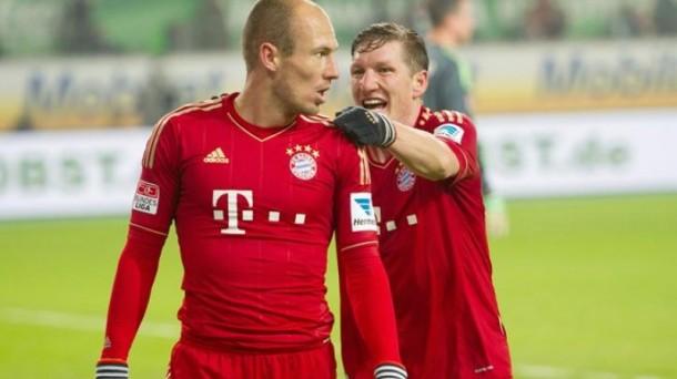 Robben y Schweinsteiger. Foto: EFE
