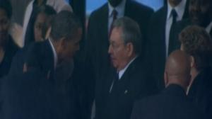 Raul Castro eta Obamaren arteko agurra
