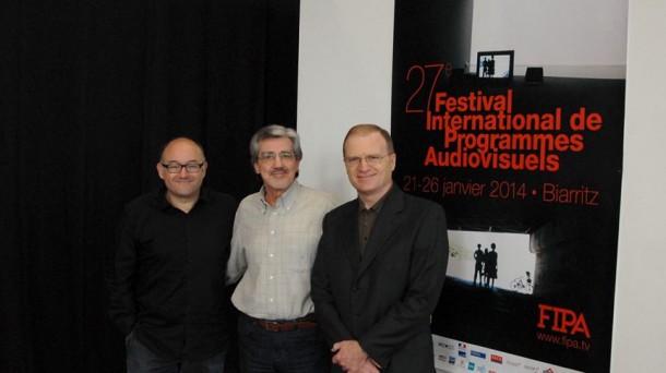 Francois Sauvagnargues, José Luis Rebordinos y Joxe Portela.