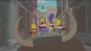 Los Simpson corren el encierro de San Fermín