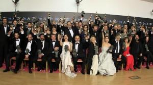 Foto de todos los premiados en la gala del año 2015. Foto: EFE