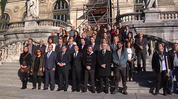 Una concentración pasada en el Ayuntamiento de Bilbao. EiTB