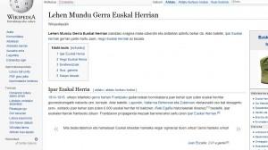 'Auzolan erraldoia egin nahi dugu euskarazko Wikipedia hornitzeko'