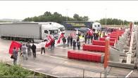 Bloquean el peaje de Biarritz en una protesta por la reforma laboral