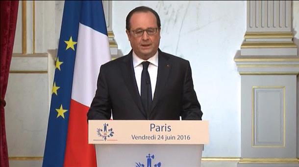 François Hollande Frantziako presidentea. EiTB