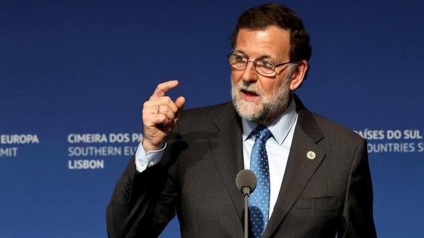 Mariano Rajoy, hoy en Lisboa. Foto: EFE