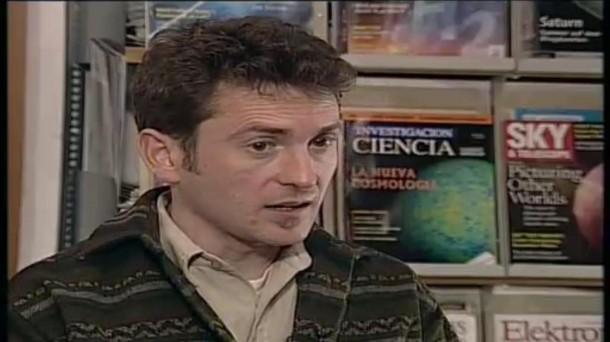 Javier Gorosabel en una entrevista de ETB, en 2004.