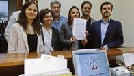 Unidos Podemos registra la moción de censura, con Iglesias como candidato