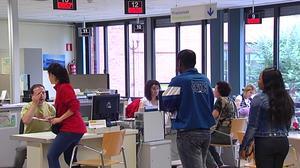 Una oficina de empleo. Foto tomada de un vídeo de ETB.