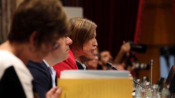 Forcadell Kataluniako Parlamentuko Mahaiaren presidentea, artxiboko irudian. Argazkia: EFE.