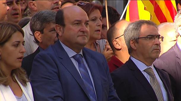 Ortuzar, durante la celebración de la Diada el pasado 11 de septiembre. Foto: EiTB