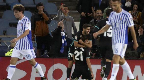 El Real Madrid se llevo la victoria de Anoeta en la primera vuelta. Foto: EFE