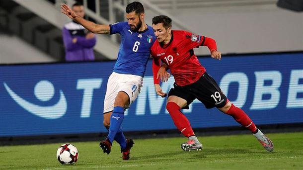 La selección de Italia se enfrentó a la de Albania en el último partido. Foto: EFE