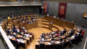 Parlamento de Navarra. Imagen sacada de un vídeo de archivo de ETB.