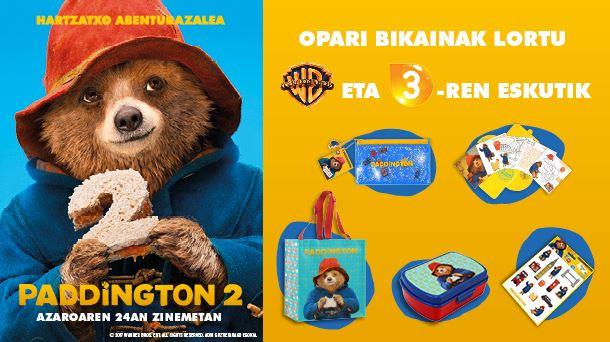Paddington 2 filmeko 10 sorta zozkatu ditugu!