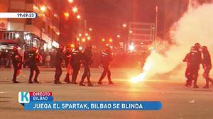 Cinco detendios y dos heridos tras los incidentes en las inmediaciones de San Mamés