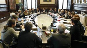Vista de la reunión de la Junta de Portavoces. EFE