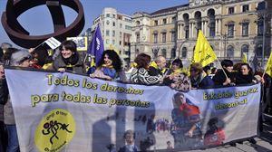 Mobilizazioak Bilbon, Donostian, Gasteizen eta Iruñean errefuxiatuak hartzearen alde