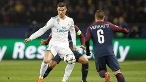 Cristiano Ronaldo y Verrati han sido protagonistas del partido por diferentes motivos. Foto: EFE