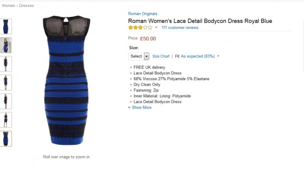 696b305fb1 El vestido que cambia de color TheDress. Foto  Amazon